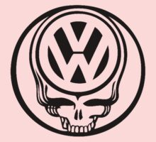VW Dead Head black Kids Tee