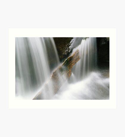 Stuck in the flow (Falls of Moness) Art Print