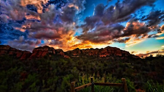 As The Sun Sets in Sedona  by Saija  Lehtonen