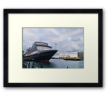 The scale of her - Queen Elizabeth, Circular Quay Framed Print