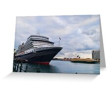 The scale of her - Queen Elizabeth, Circular Quay Greeting Card