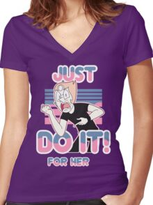 Pearl LaBeouf (DO IT! for her) Women's Fitted V-Neck T-Shirt