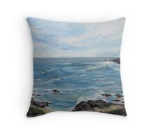 Large Acrylic Oceanscape Throw Pillow