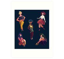 Cool Girls Art Print