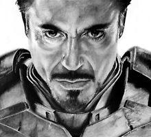 Robert Downey Jr Graphite Drawing by dmbarnham