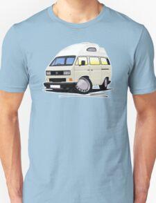 VW T25 / T3 [SQ] (High Top) White Unisex T-Shirt