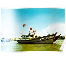 Tourist - Vietnam - Boat on the Mekong River Poster