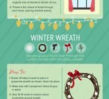 DIY Holiday Decorating Infographic by YasminHolt