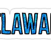 Delaware Glitter Sticker