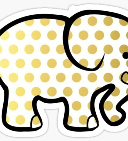 Gold Elephant Sticker