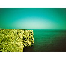 Tourist - Portugal - On the cliff -Algarve  Photographic Print