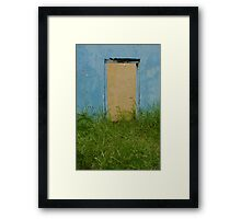 Bonaire Door Framed Print
