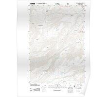 USGS Topo Map Oregon Brown Creek 20110816 TM Poster