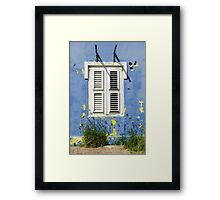 Bonaire - Shuttered Window Framed Print