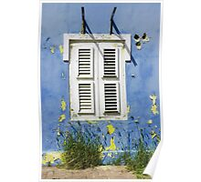 Bonaire - Shuttered Window Poster