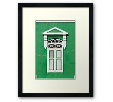 Bonaire - Green Window Framed Print