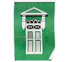 Bonaire - Green Window Poster