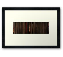 Moviebarcode: Gone with the Wind (1939) Framed Print
