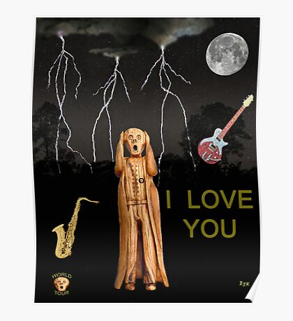 The Scream World Tour  Scream Rocks I Love You Poster