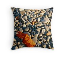Belliveau Cove, Kelp and Pebbles Throw Pillow