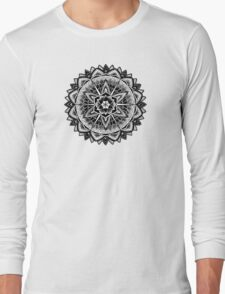 """Paradise Could Paralyse"" Sacred Geometry Mandala Long Sleeve T-Shirt"
