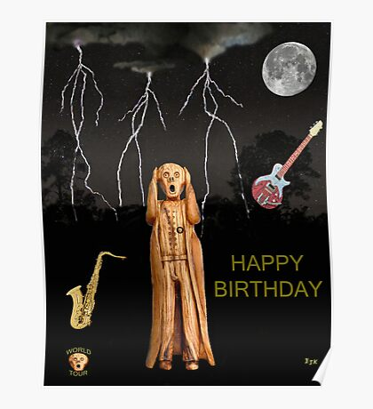 The Scream World Tour  Scream Rocks Happy Birthday Poster
