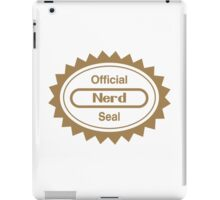 Official Nerd Seal of Quality iPad Case/Skin