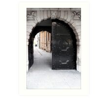 Temple Lane off Fleet Street Art Print