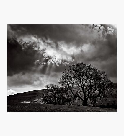Rain storms follow spot Photographic Print