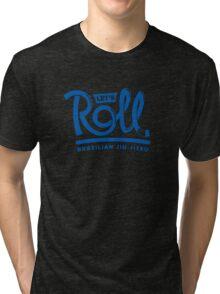 Let's Roll Brazilian Jiu-Jitsu Blue Belt Tri-blend T-Shirt