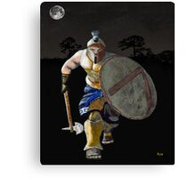 Spartan Warrior Charge Canvas Print
