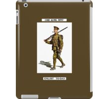 Come Along, Boys! Enlist To-Day iPad Case/Skin
