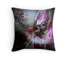 Fire Dancer Throw Pillow