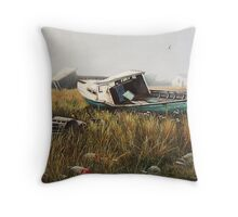 """Fishing Relics"" Throw Pillow"