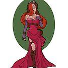 Steampunk Jessica Rabbit by Karen  Hallion