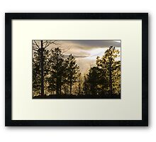 Friday Night Sunset at Cary in March Framed Print