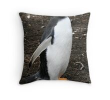 Gentroo Penguin - Welcome to my World!! Throw Pillow