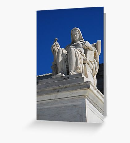 Statue at the Supreme Court in Warshington Greeting Card