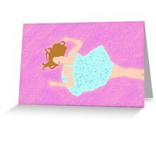Glowing Violet Greeting Card