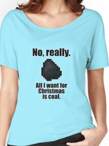 Minecraft - Christmas Coal Women's Relaxed Fit T-Shirt