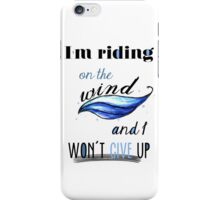 riding on the wind (fireproof) iPhone Case/Skin
