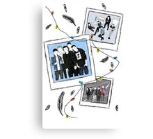 one direction polaroid snaps Canvas Print