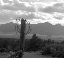 Barbed Wire over the Sangre de Cristos by Epicloud