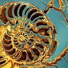 Gold & Turquoise by Irina Chuckowree