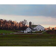 Amish Farm at Dusk Photographic Print