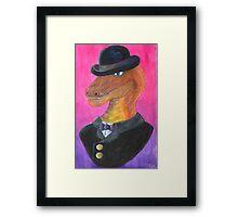 Reginald Gecko ~ Gentleman Theif Framed Print