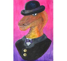 Reginald Gecko ~ Gentleman Theif Photographic Print