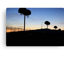 Basketball at Sundown Canvas Print