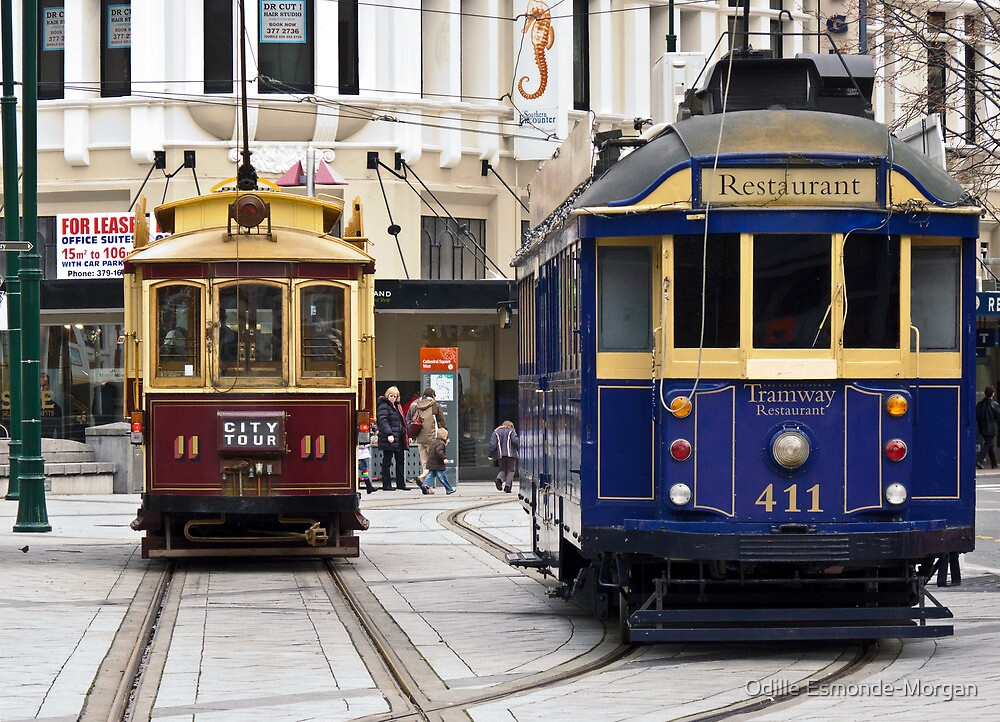 Christchurch Trams by Odille Esmonde-Morgan