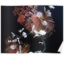 Flowered Abstract Poster